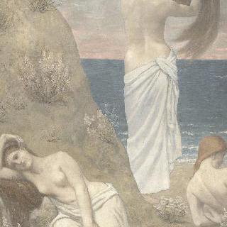 바닷가의 젊은 여자들