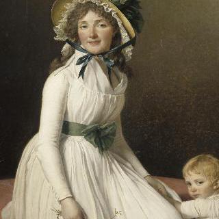 다비드의 처제 세리지아 부인과 그녀의 아들 에밀