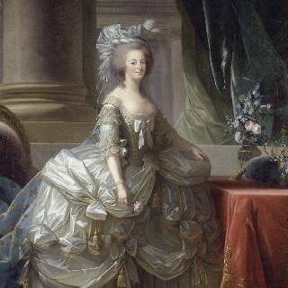 '로브 아 파니에'를 입은 마리 앙투아네트 왕비