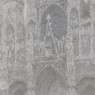 루앙 성당, 성당의 정문, 흐린 날씨, 회색 조화