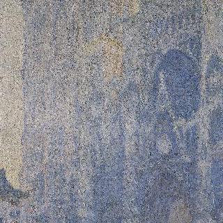루앙 성당. 성당의 정문과 생 로맹 탑, 아침, 흰색 조화