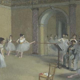 르 펠르티에 가 오페라 극장의 무용 연습실