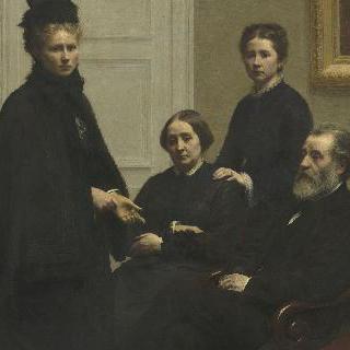뒤부르그 가족. 뒤부르그 씨와 부인 그리고 그들의 딸들: 화가의 부인 빅토리아와 샤를로트