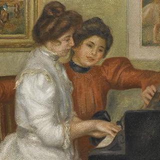 피아노 치는 이본과 크리스틴 르롤