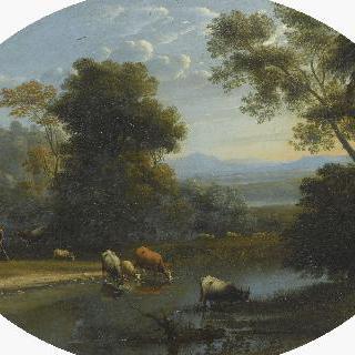 풍경. 목자와 소떼