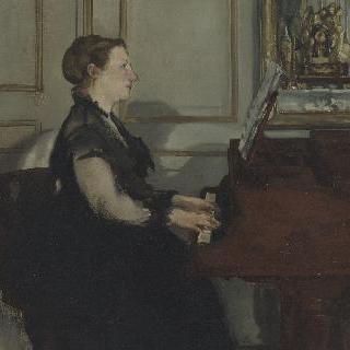 피아노 치는 마네 부인