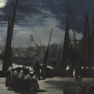 불로뉴 항의 달빛