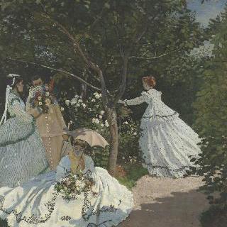 빌 다브레 정원에 있는 여인들