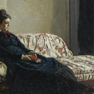 모네의 첫 부인 카미유 동시유, 소파에서의 명상