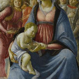 다섯 천사에게 둘러싸인 성 모자상