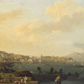 베수비오 산이 보이는 나폴리 풍경