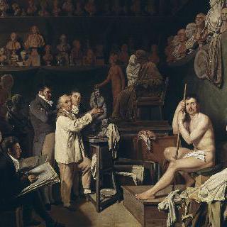 1804년 조각가 장 우동의 아틀리에