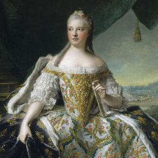 1747년, 프랑스 황태자비 마리 조제프 드 삭스