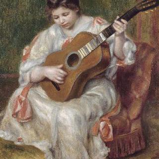기타를 연주하는 여인