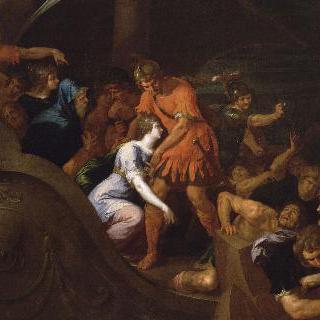 카리클레아를 납치하는 트라키누스