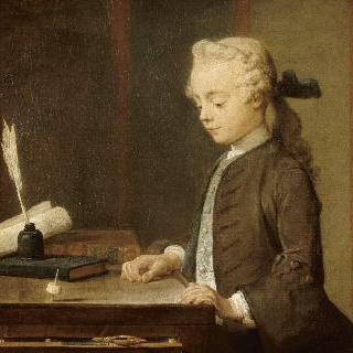 팽이를 들고있는 아이. 오귀스트 가브리엘 고드프루아 (1728-1813)