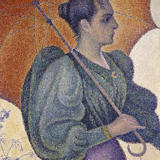 우산을 쓴 여인