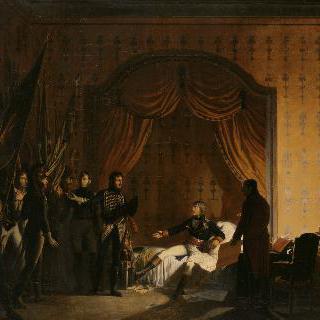 1796년 4월 13일 밀레시모에서 군기를 받는 보나파르트