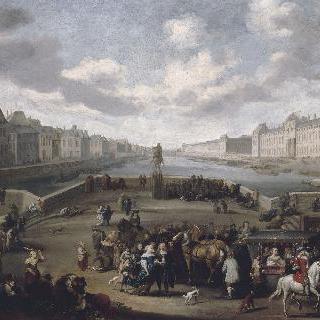 앙리 4세 다리에서 바라본 루브르가 있는 파리의 전경