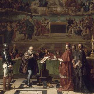 바티칸 종교 재판소 앞의 갈릴레이