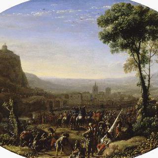 세구지오 협곡의 험로를 지나도록 독려하는 루이 13세 (1629)