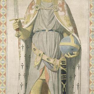 성 페르디낭 성당 스테인드글라스의 밑그림 : 카스틸과 레옹의 왕 성 페르디낭