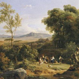 프라스카티의 전경에서 영감을 받은 풍경