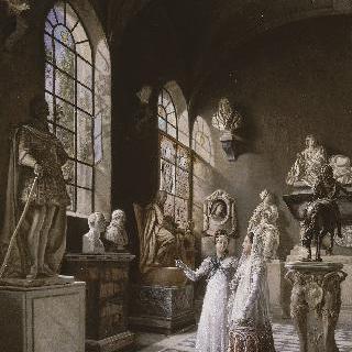 프랑스 문화재 박물관의 17세기 전시실 전경