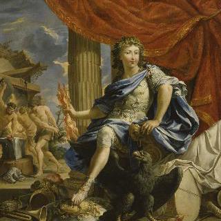 주피터의 모습으로 표현된 루이 14세의 초상
