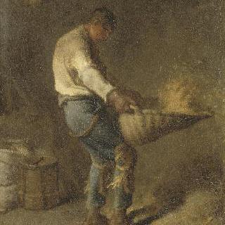 키질하는 농부