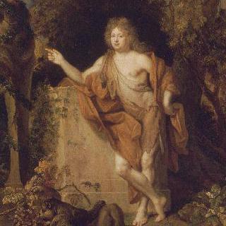 바쿠스 복장을 한 남자의 초상