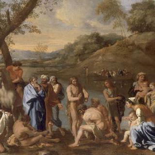 사람들에게 세례를 주는 성 요한