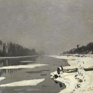 부지발 센 강 위의 얼음덩어리들