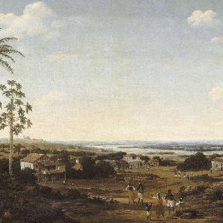 브라질 파라이바 강 근처의 농장 주인의 집