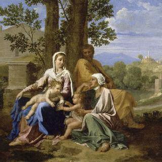 성녀 엘리자베스와 세례 요한이 함께 한 성 가족이 있는 풍경