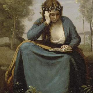 화관을 쓴 책읽는 여인 (베르길리우스의 요정)