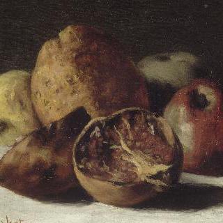 사과와 석류가 있는 정물