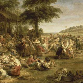 네덜란드 지방의 축제 또는 마을의 결혼식