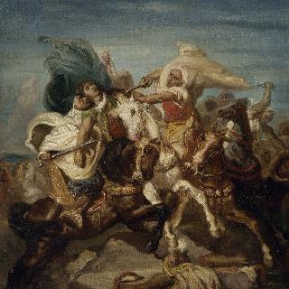 아랍의 기병들의 전투