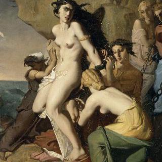 네레이데스에 의해 바위에 묶인 안드로메다