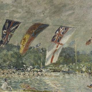 몰지의 보트 경주 (영국, 햄튼 코트 궁전 근교)