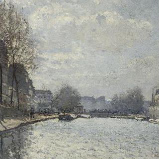 파리의 생 마르탱 운하의 전경