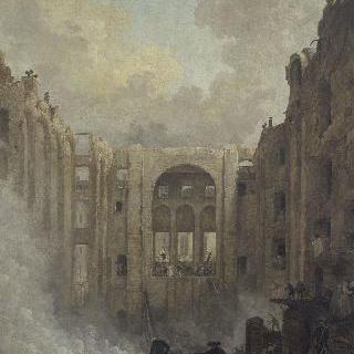 1781년 경 화재가 난 팔레 루아얄의 오페라 극장