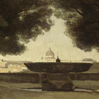 로마의 프랑스 학사원에 있는 둥근 분수