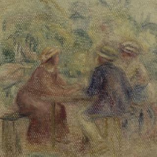 정원에서의 모임