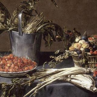 과일과 야채가 있는 정물