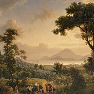 포실리포의 언덕에서 바라본 전경