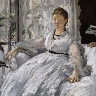 독서, 마네 부인과 아들 레옹 코엘라-린호프