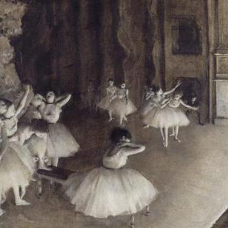 무대 위에서의 발레 연습