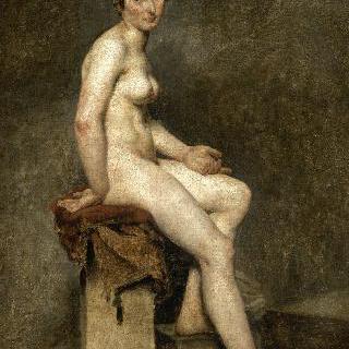 앉아있는 누드, 게랑의 아틀리에의 모델 로즈